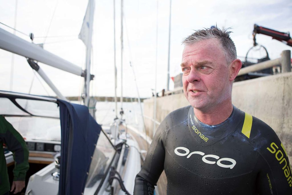 Sean Murrays after his Fastnet Swim