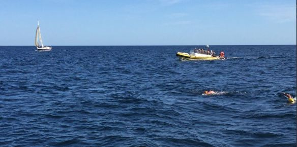1st Female to complete Fastnet Swim